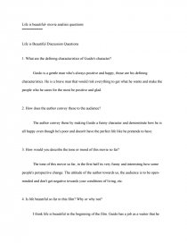 Help With My Essay Life Is Beautiful Movie Analisis Questions Creative Writing Zoom Essay On The United Nations also Digital Camera Essay Life Is Beautiful Essay Life Is Beautiful Movie Analisis Questions  Anthropology Essays