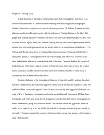 Chapter  Latent Learning Essay  College Essays Zoom Zoom Zoom