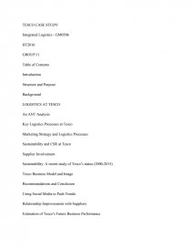 Tesco Logistics Strategy - Research Paper